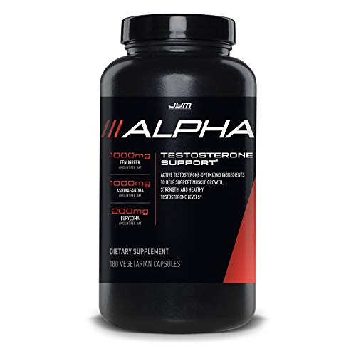 JYM Supplement Science Testosterone Booster - Ashwagandha, Fenugreek, Eurycoma, Damiana, and more | JYM Supplemental Science | 180 Vegetarian capsules | Alpha JYM