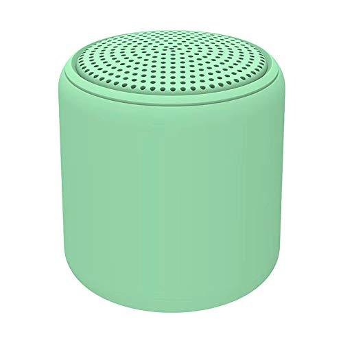 Tollk Lesse Mini Altavoz Bluetooth Macaron portátil al Aire Libre portátil bajo Pesado Redondo pequeño cañón de Acero Regalo Audio TWS Audio Bluetooth