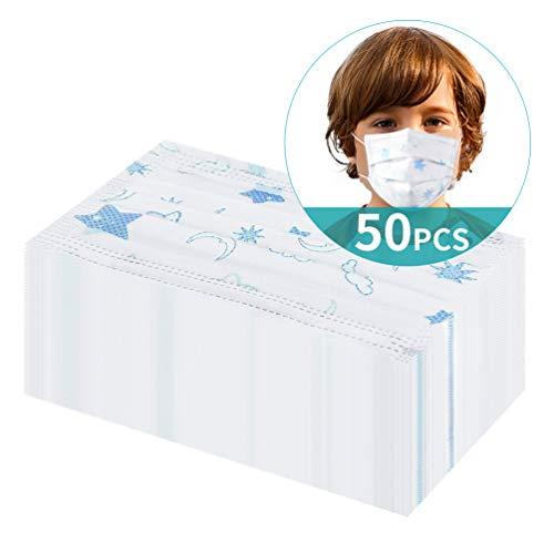 50pcs Formato Faccia Libera USA e Getta 3-ply Adatto ai bambini Blu