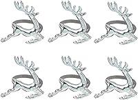 クリスマスの結婚式のパーティーのための6 PCSエルクディアナプキンリングのテーブルの装飾的な飾り毎日の使用 ナプキンリング WANGSHAOFENG