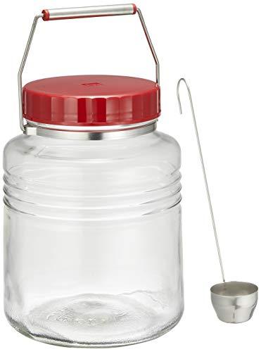 アデリア 保存瓶 ガラス クリア 復刻 梅びん 3L レードル付き 日本製 711