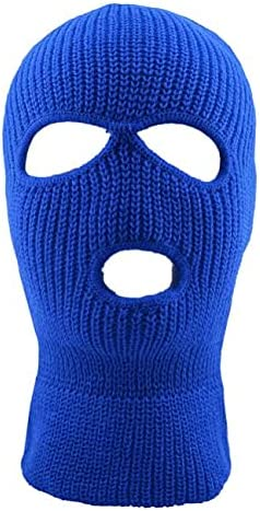 ALLNTRENDS Ski Mask Adult Three Hole Mask Full Face Cover Knitted Balaclava Hat Warm Beanie Winter Hats