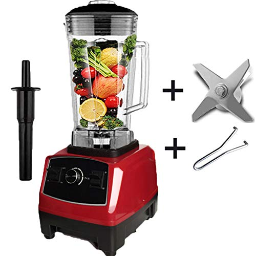 2200W Heavy Duty Commercial Blender Professional Blender Mixer Food Processor Japan Blade Juicer Ice Smoothie Machine,Red blade tool,UK Plug