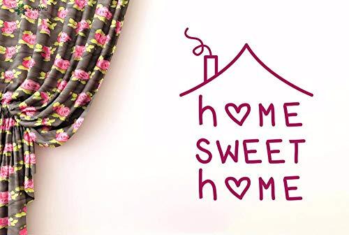 Muurtattoo Home Sweet Home Quote Muursticker Vinyl Verwijderbare Art Mural Interieur Woondecoratie Raam Deurposter 63x81cm