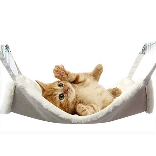 ZWW Cat Bed, Cat hangmat Verstelbare schommel Vier seizoenen Verwijderbaar en Wasbaar