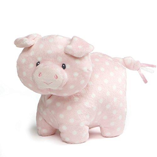 "GUND Baby Roly Polys Pig Polka-Dotted Stuffed Animal Plush, Pink, 6"""