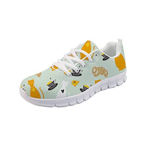 Polero - Zapatillas de deporte ligeras Air Trainer City Road Go Run zapatillas atléticas Gym Walkers transpirables, con estampado floral y estampado animal, unisex, color Multicolor, talla 45 EU