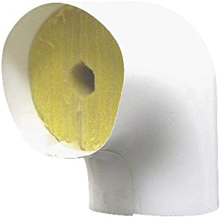 PERFORMANCE INSULATION F90S4112PVC Pipe Fitting Insulation/Fiberglass 90 Screwed Elbow and PVC Cover, 4