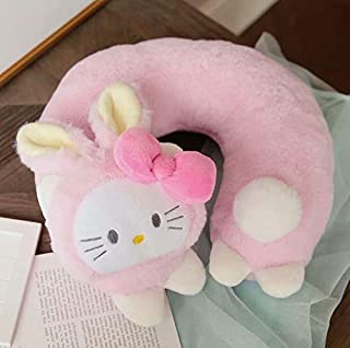 1 Pc Lovely My Melody Hello Kitty Cinnamoroll Dog U Type Travel Pillow for Neck Soft