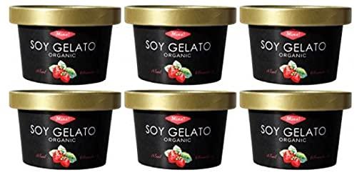 無添加アイス オーガニックSOYジェラート ストロベリー 85ml×6個 ★クール冷凍便 ★有機JAS(無農薬・無添加)★卵・乳製品不使用★豆乳ジェラートアイス