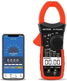 Digital Clamp Meter Bluetooth Multimeter Berührungslose Stromzange für Multimeter AP 570C APP 4000 Counts Auto Range AC/DC Spannung Strom Widerstand Kapazitanz Frequenz Testen