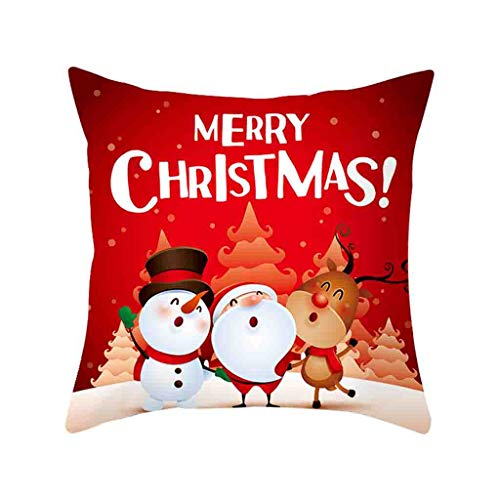 18x18 Inch Christmas Throw Pillow Covers Christmas Tree Farm Pillow Cases for Sofa Car Cushion Cover Vintage Christmas Home Decor