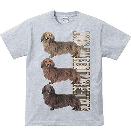 エムワイディエス(MYDS) 犬>三色ダックス(ミニチュア ダックスフンド)/半袖Tシャツ/杢グレー/メンズS