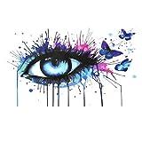 NATUCE Pintar por Numeros para Adultos Niños Pintura por Números con Pinceles y Pinturas Decoraciones, DIY Conjunto Completo de Pinturas para el Hogar Colorido Mariposa (16*20 Pulgadas, Sin Marco)