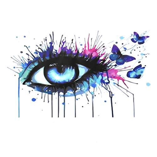 DIY Digitale Leinwand Malen Nach Zahlen Kits, Diy Handgemalt Ölgemälde, Zahlenmalerei Malen Nach Zahlen für Erwachsene Kinder, DIY Acrylmalerei Kit mit Pigment und Pinsel-Auge Schmetterling 40*50 cm