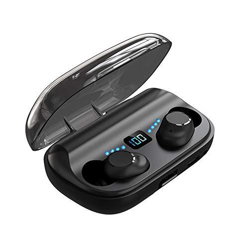 Lepeuxi Cuffie Wireless JS2 Auricolari Bluetooth 5.1 TWS con Microfono Cuffie Sportive Auricolari Musicali con Controllo tattile per telefoni