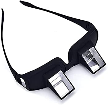 Valuu Lazy Glasses Bed Prism Glasses Lazy Spectacles Horizontal Glasses High Definition Glasses Prism Periscope Lie Down Eyeglasses for Reading and Watch TV in Bed Unisex