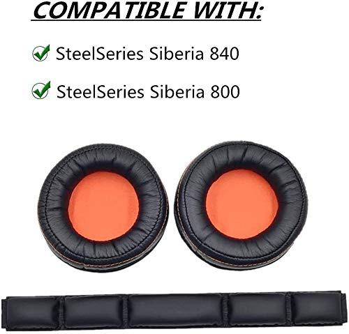 YDYBZB Ersatz-Ohrpolster für SteelSeries Siberia 840800kabelloses Headset Dolby 7.1Kopfhörer Orange