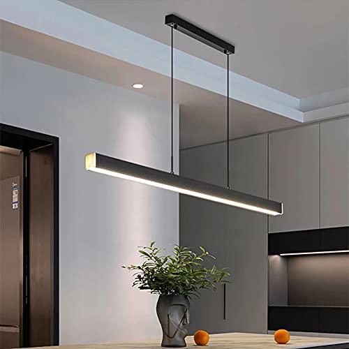 PDXGZ Lámpara Colgante Moderna LED Lámpara Colgante Lámpara de Techo Ajustable en Altura Lámpara Colgante Decoración Luz de Techo, Adecuado para Cocina, Sala de Estar, Bar, Restaurante