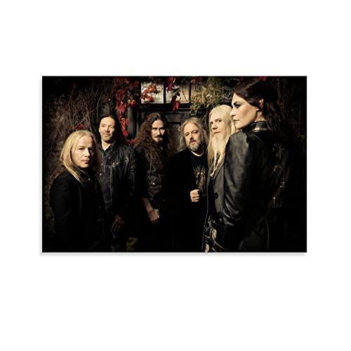 SMJP Nightwish Poster mit menschlicher Natur, dekoratives Gemälde, Leinwand, Wandkunst, Wohnzimmer, Poster, Schlafzimmer, Malerei, 30 x 45 cm