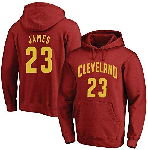 ZSPSHOP - Sudadera con capucha para hombre, diseño de la NBA Cavs n.º 23 James Jersey con capucha (color: rojo B, tamaño: mediano)