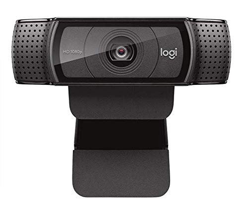 Computer Webcam C920 HD Pro - Cámara de vídeo panorámica de transmisión de 1080p - Micrófono incorporado para grabación para computadora de escritorio y portátil Cam