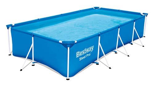 Bestway 56405 Marco de Acero, Azul, 400 x 211 x 81 cm