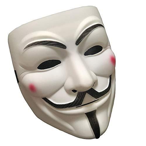 Halloween Masks V for Vendetta Mask, Hacker Masks Anonymous Mask for 2018 Halloween Costume