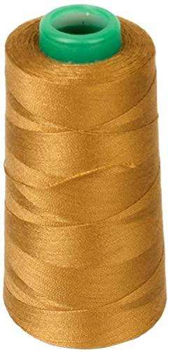 Ghlevo Jeune 1Roll Spool Jeans Fil de Couture Filetage en Polyester Bobine de Couture pour Machines industrielles et à la Main à la Main dorée
