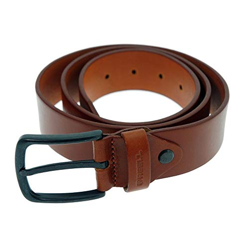 Reell All Black hazel Leather Belt Taille L/XL