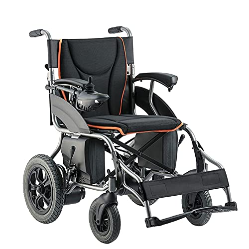 LFLLFLLFL Elektrorollstuhl, Faltbarer Rollstuhl Luxus Elektrischer Rollstuhl Tragbarer Rollstuhl Ganzgelände Elektromagnetische Bremse Energiesparende Dual Motors Wetterfest (Size : Lithium Battery)