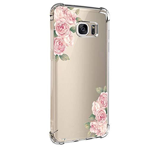 Coque de protection pour Samsung Galaxy S6 Edge - Transparente - En silicone souple - Résistante aux rayures - Motif créatif - Transparent - Bumper - Pour Galaxy S6 Edge - Multicolore - Medium