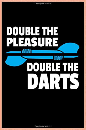 Double the Pleasure Double the darts: Journal, Composition book, Idea book, Workbook, Sketchbook, Planner | 120 pages | dot graph notebook | 6 x 9 inch (ca. DIN A5)