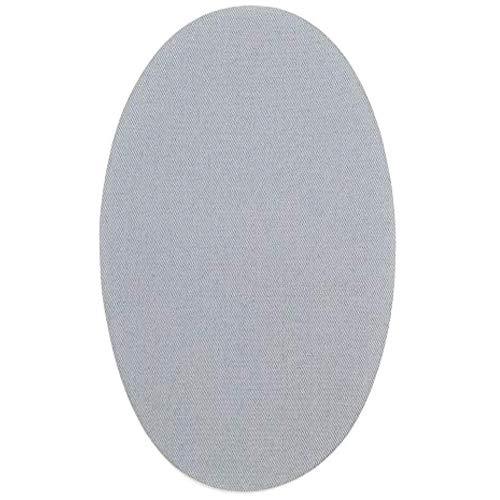 6 Rodilleras Color gris Claro termoadhesivas de Plancha. Coderas para Proteger tu Ropa y reparación de Pantalones, Chaquetas, Jerseys, Camisas. 16 x 10 cm