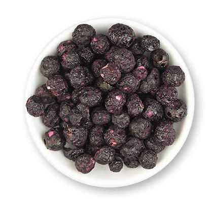 1001 Frucht Blaubeeren Heidelbeeren gefriergetrocknet 100 gr I Heidelbeere Protein Supersnacks und Powerfood gefriergetrocknete Früchte für Smoothies und Shakes ins Müsli und die Frühstücks Bowl