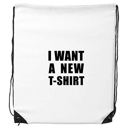 DIYthinker Quiero una Nueva Camiseta del morral del Lazo de Compras Deportes...