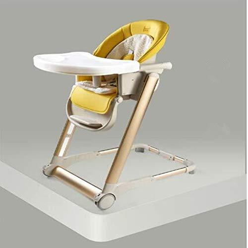 HMG lx666 bebé Que Come la Silla Plegable del Asiento Infantil for bebés portátil multifunción Kids Sillas de Comedor (Champagne) (Color : Yellow)