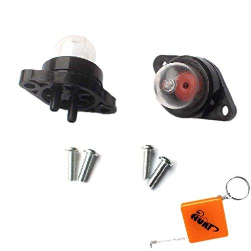 HURI Primer Pumpe Kraftstoffpumpe Benzinpumpe für Partner 350 351 370 390 420 Poulan 2050 2055 2115 2150 2155 2175 2250 Motorsäge mit Schrauben