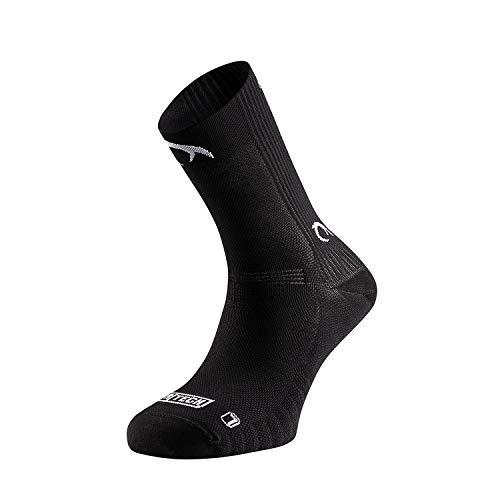 Lurbel Cosmos, Calcetines de ciclismo, Calcetines transpirables, calcetines sin costuras, Calcetines Btt, Calcetines unisex (NEGRO, L)