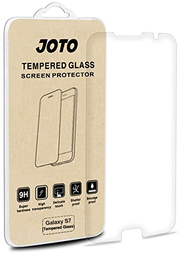 Samsung Galaxy S7 Tempered Glass Screen Protector - JOTO Galaxy S7 Tempered Glass Screen Protector Film Guard 0.30 mm Rounded Edge Real Glass Screen Protector for Samsung Galaxy S7 2016 (1 Pack)