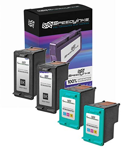 Speedy Inks Remanufactured Ink Cartridge Replacement for HP 96 & HP 97 (2 Black, 2 Color, 4-Pack))