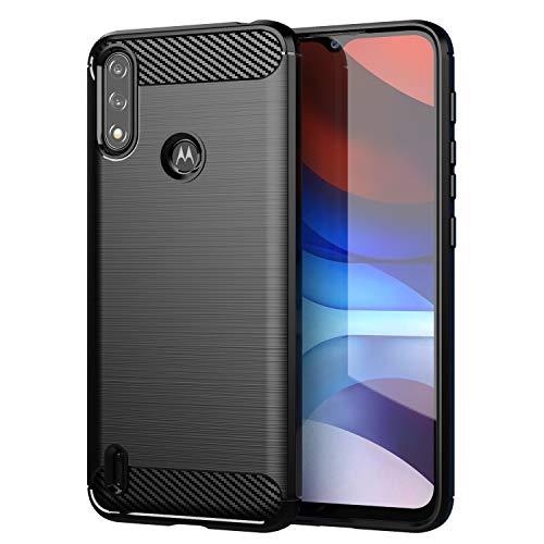 BAIDIYU Hülle für Motorola Moto E7i Power, Kratzfeste, Schlanke, Stoßfeste TPU-Stoßstangenabdeckung, Flexibler Schutz, Schutzhülle für Motorola Moto E7i Power Handyhülle.(Schwarz)