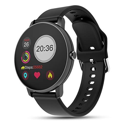 HJKPM P8 Smartwatch, Reloj Inteligente De Salud De Pantalla Grande A Prueba De Agua IP68 con Ritmo Cardíaco Deportivo Monitoreo De Sueño Y Función De Llamada Bluetooth,A1