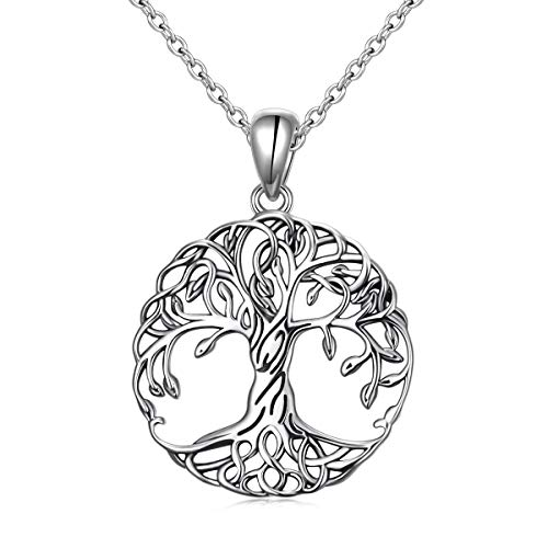 Tree of Life Necklace for Women Sterling Silver Family Celtic Tree Jewelry Celtic Family Tree Pendant Mother's Day Gift