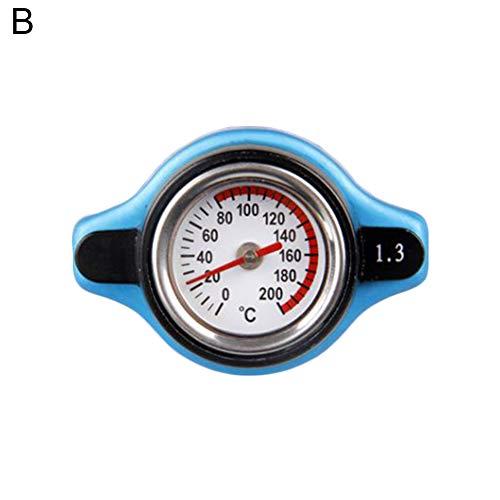 qhtongliuhewu 1 Tapa de radiador de aleación de Aluminio, medidor de Temperatura de Agua - 0.9/1.1/1.3 Bar