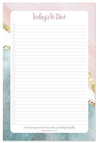 bloom daily planners Daydream Believer Planungsblock, undatiert, für tägliche To-Do-Listen, 15,2 x 22,9 cm