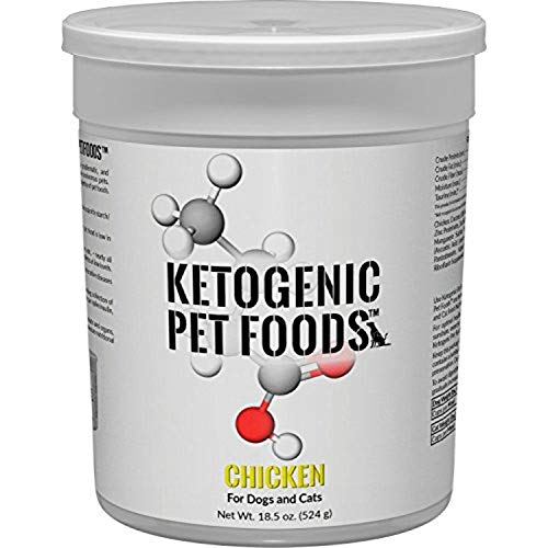 Ketogenic Pet Foods - Chicken - High Protein, High Fat, Low Carb, Natural Dog & Cat Food - 18.5 oz. Canister