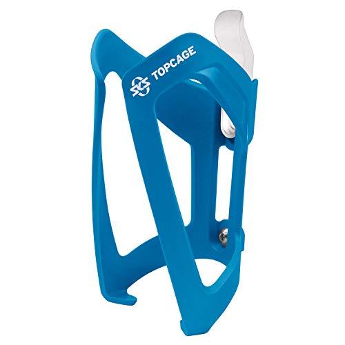 SKS GERMANY TOPCAGE Flaschenhalter für Fahrräder (Fahrrad-Flaschenhalter aus hochfestem sowie leichtem Kunststoff, verstellbarer Anschlag, variable Fanghaken für sichere Arretierung), Blau