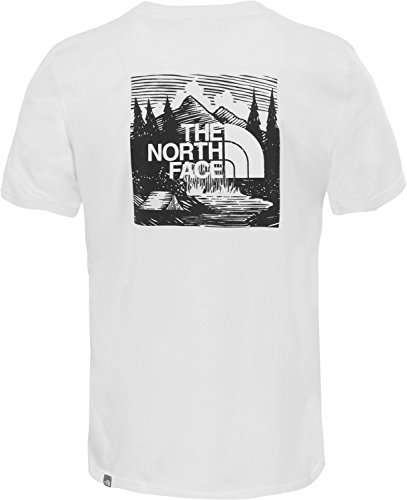 The North Face Hombre Camiseta Redbox, Blanco, X-Small