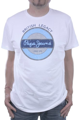 Pepe Jeans - SHEEN - Homme - T-shirts et Polos - Blanc - L